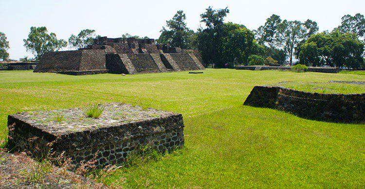 Zona arqueológica en Cuernavaca.