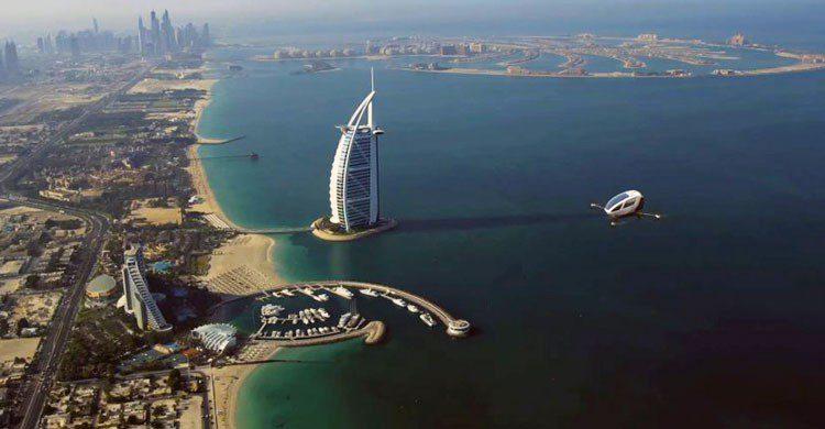 Taxi volador en Dubái.
