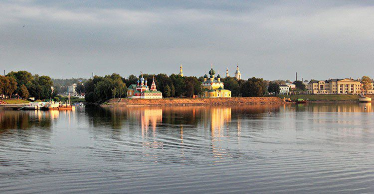 Hermoso paisaje ruso.