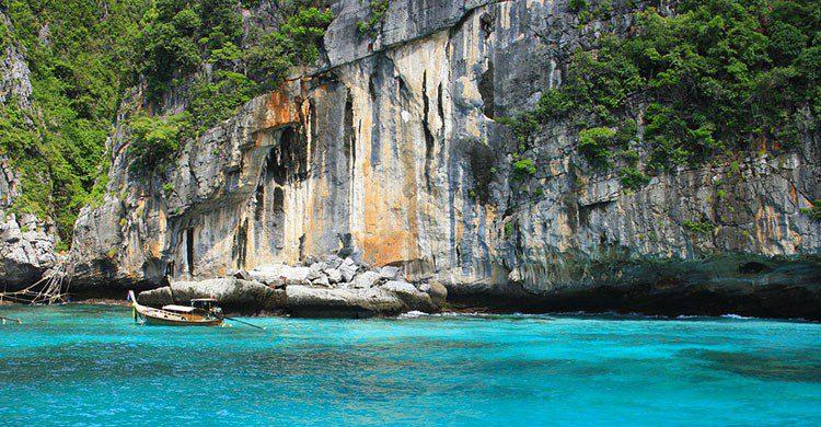 Paradisíaco rincón en Tailandia.