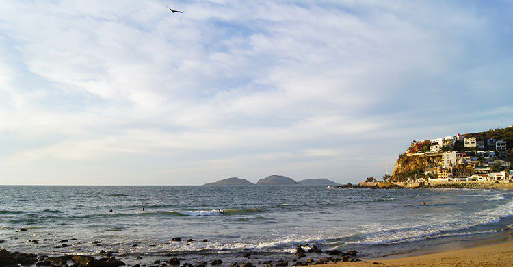 Playa en Mazatlán.