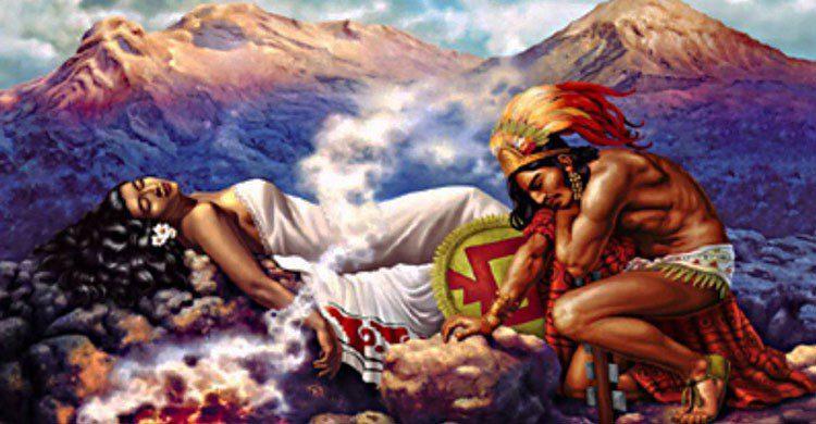 Retrato sobre la leyenda mexicana.