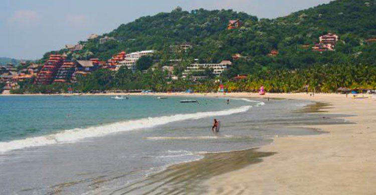 Playa en Guerrero.