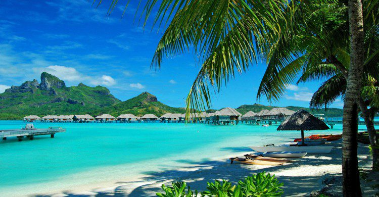 Paisaje de playa en Hawaii