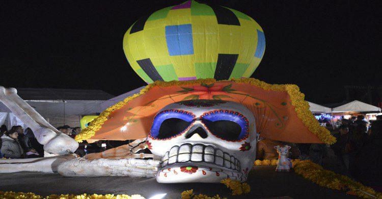 Calavera gigante en Teotihuacán