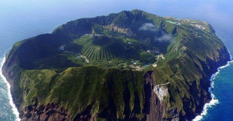 isla Miyakejima vista panorámica de día en Japón