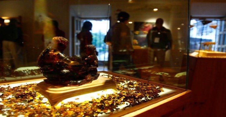Museo del Ámbar de Chiapas escultura de ámbar