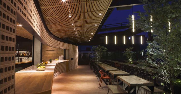 Terraza Balmori Roofbar de noche